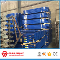 Construction material of scaffolding walk-though frames