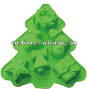 Quality Warranty Non-slip Durable Food Grade Christmas Tree Silicone Bakewares