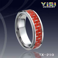 spikes titanium rings christmas jewelry fashion Carbon Fiber Tungsten Ring
