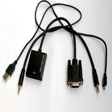 VGA to Hdmi converter adapter with USB+Stereo Cable 3 in 1 design Adapter