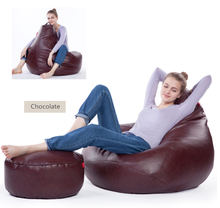Customised PU leather seats antique chairs bean bag