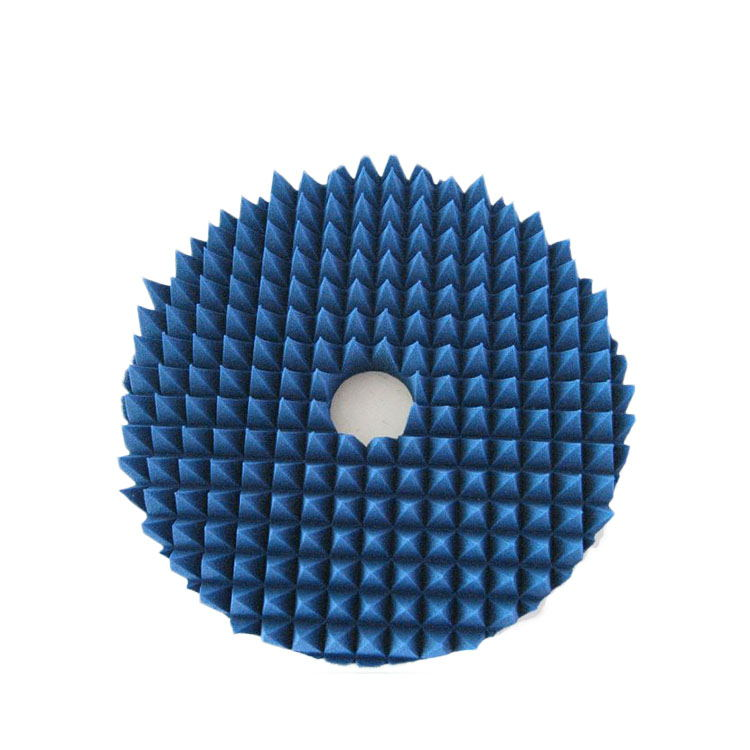 Polyurethane foam pyramid blue lightweight microwave shielding material for chamber