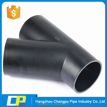 hdpe material 45 degree y branch pipe fitting lateral tee