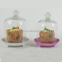 Miniature Glass Bell Jar with White Base