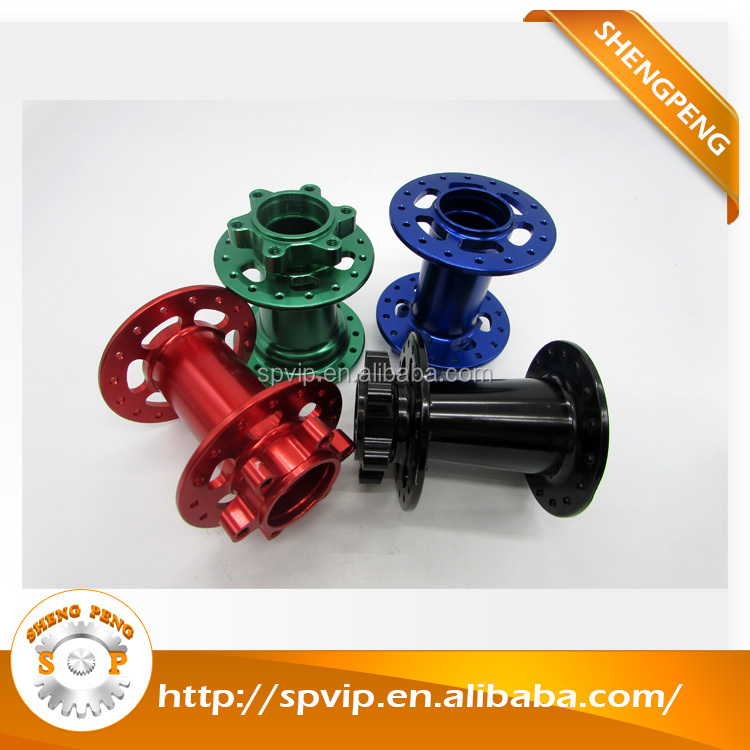 Non-standard aluminum cnc turning parts with colorful anodized