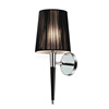 2016 contemporary chrome wall lamp with black leather hose W1021