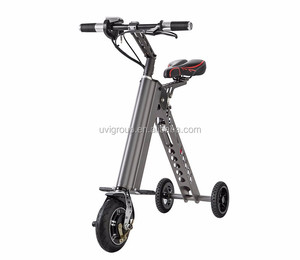 wholesale alibaba hot new 2017 8inch 3-wheel 36v 7.2ah folding electric scooter/electric bike
