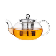 1200ml Borosilicate Glass Blooming Teapot With Wire Mesh Strainer And Lid
