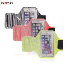 HAISSKY Waterproof Sport Armband Case for iphone 7 7 plus 5.5'' Accessories Running Arm Band