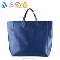 GOOD QUALITY BLUE FASHION PU HANDBAGS TOTE BAG FOR OFFICE LADY