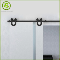 Track and wheels hanging sliding door pulley