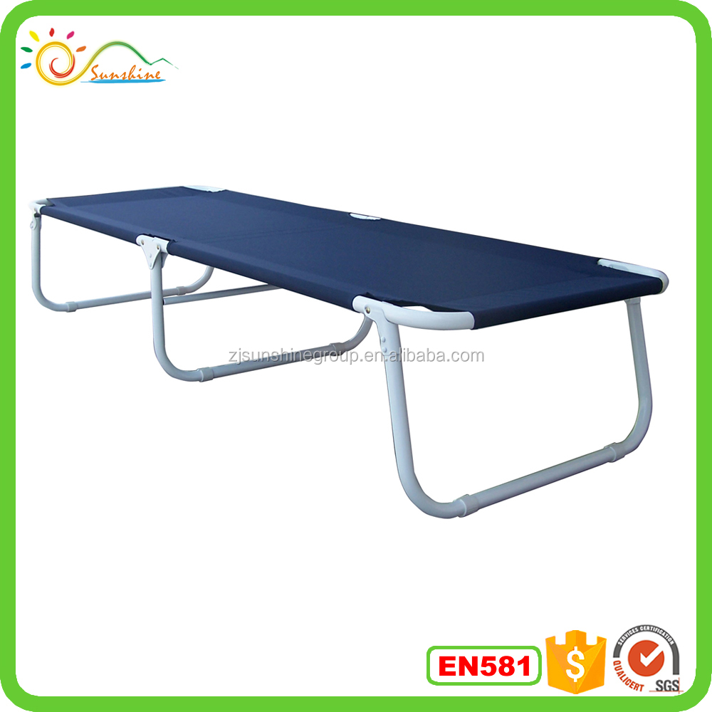 High quality aluminum folding cot unique camp beach holiday picnic bed