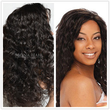 Good quality OEM provided remy hair full lace wig deep wave peruvian wig