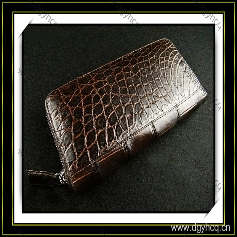 Fashion microfiber artificial genuine crocodile leather for handbag and high heel shoes
