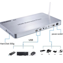 3D Full HD 1080p HDMI Media Player V1.4 with 8G SD Card + Remote 2.0 GHZ 8 Core GPU 2G DDR3 Memory Android 4.4 System