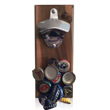 Barware Magnetic Top Catcher Wood Beer Bottle Opener