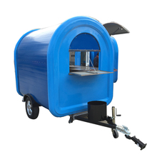 Mobile snake fast cart Fiberglass shell ice cream trailer with CE ISO