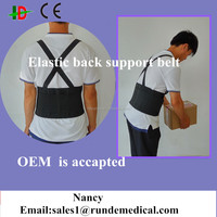 Industrial back support brace for heavy things lifting with suspender