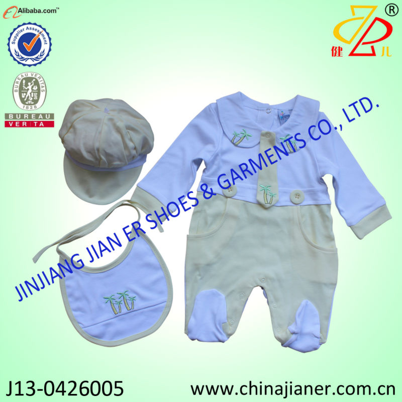 new product for 2014 infant wear 3pcs set rompers baby clothes