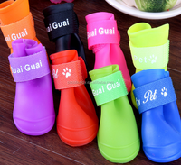 Eco-Friendly Feature Silicone pet dog rainshoes waterproof boots