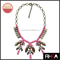 2014 New design Europe hot selling Trendy deep classic custom fashion necklace
