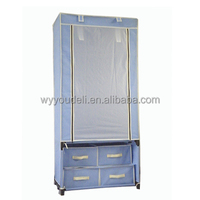 european new style assembly new trend cloth cabinet,folding 600D wardrobe sealing strip