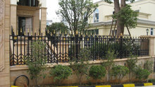 beautiful faux wrought iron fence design