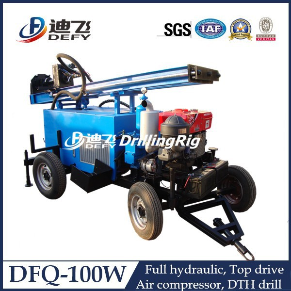 DFQ-100W hydraulic high efficiency Rock digging equipment, drilling rigs for water wells.