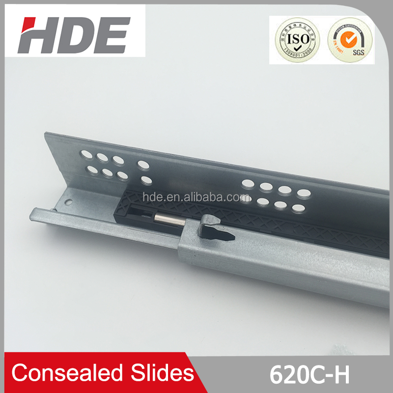 Kitchen cabinet hardware soft closing auto-close concealed drawer slide