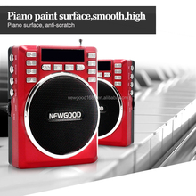 portable multimedia outdoor speaker with FM radio,mp3 player support and TF SD card and USB slot