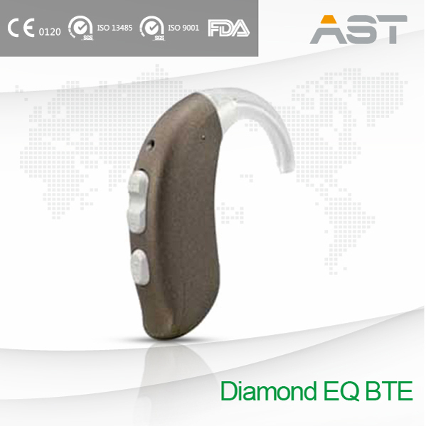 Diamond EQ Inspiring Design Hearing Aid BTE Amplifiers Fits Perfectly to Audiogram