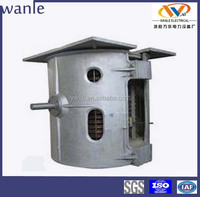 2 Ton medium frequency electric induction steel scrap smelter
