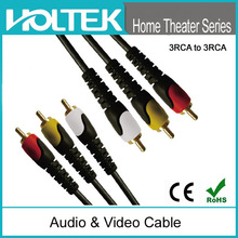 Home theatre RCA plug for projector 3RCA to 3RCA AV cable male to male