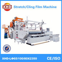 plastic cast pe stretch film extruder machine