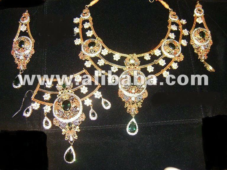 pakistani bridal and wedding jewellery set