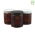 Fuyun 250ml amber color pet plastic jar with black cap