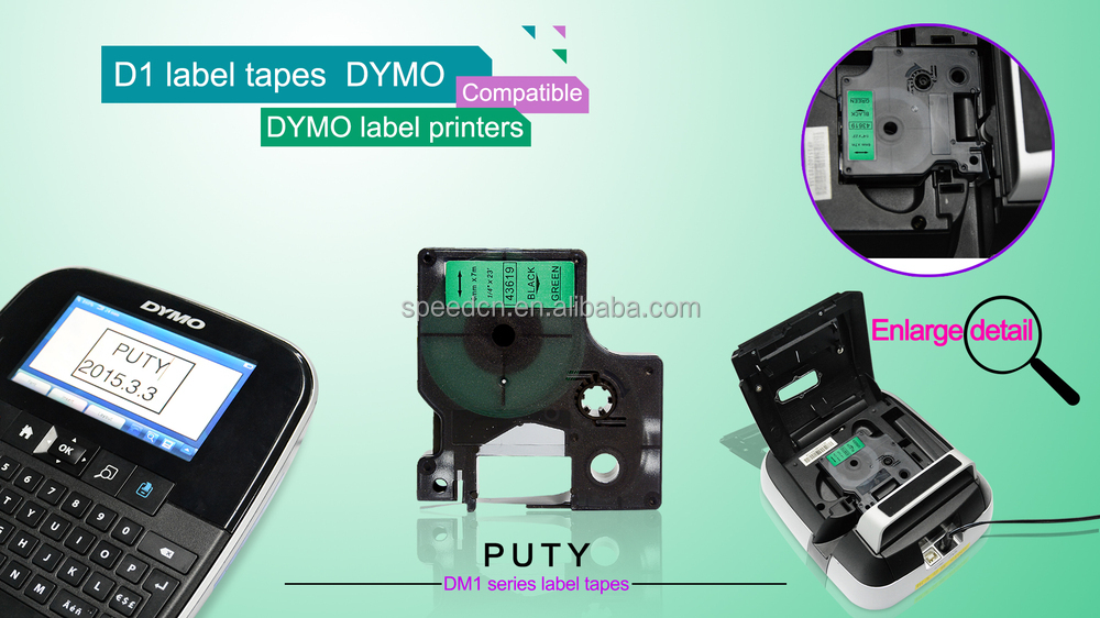 DYMO labelmanager D1 tape black on clear Label Tape 12mm Compatible for DYMO D1 45010