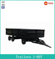 Top Grade Mini 6 Wheel Flatbed semi trailers with CE