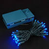50 LED Battery Operated Lights Blue