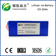 electric vehicle, electric scooter 12v 20ah small rechargeable lifepo4 battery ICR18650