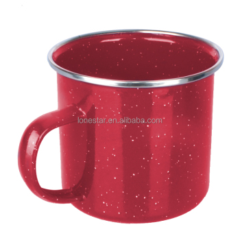 Hot selling Purple Speckle Camping Enamel Mug for small orders