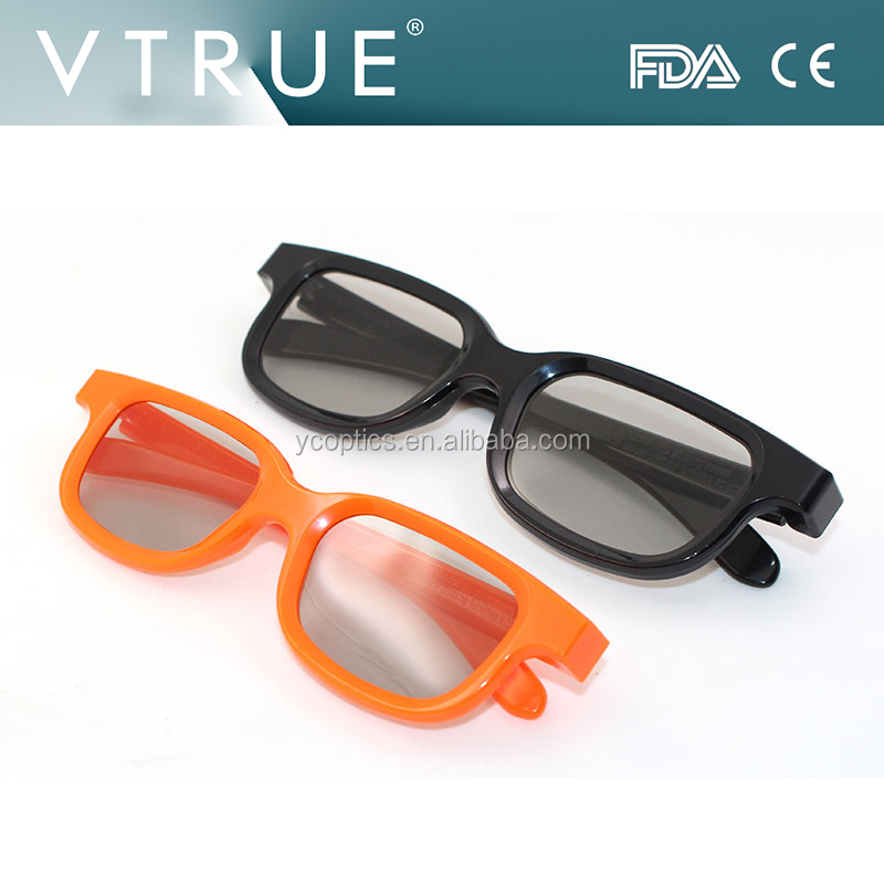 new mould REAL-D polarized circular 3D glasses for 3d theatre ,cinema movies