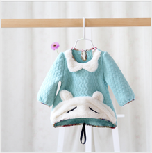S30746W Newest Spring Kids Thick Hoodies Dress Girls T-shirt Stitching Baby Girls lace Dresses