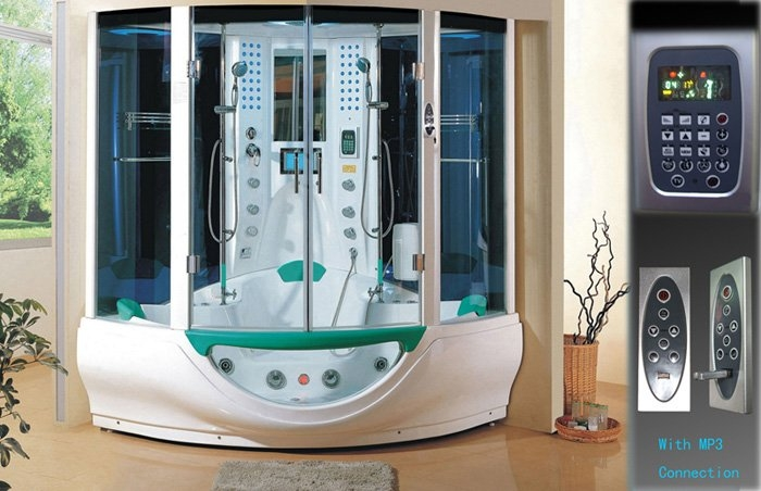 luxury Family Shower Room Wet Steam combo whrilpool spa hot tub 2 person - Two years warranty!