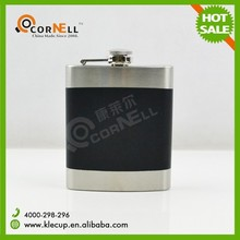 new product Gift Black Matt Finish 7o Stainless Steel Hip Flask