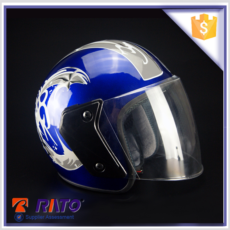 New design Chinese motorcycle blue driving helmet for sale