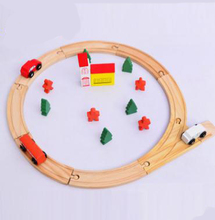 Originality design puzzle assembled 25pcs track Thomas train circular orbit wood toy