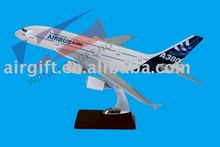 CUSTOMIZED LOGO RESIN MATERIAL A380 SCALE PLANE MODEL