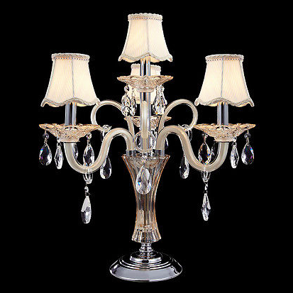 Zhongshan Classical Luxury European 4 Lights Crystal Table Lamp for Hotel