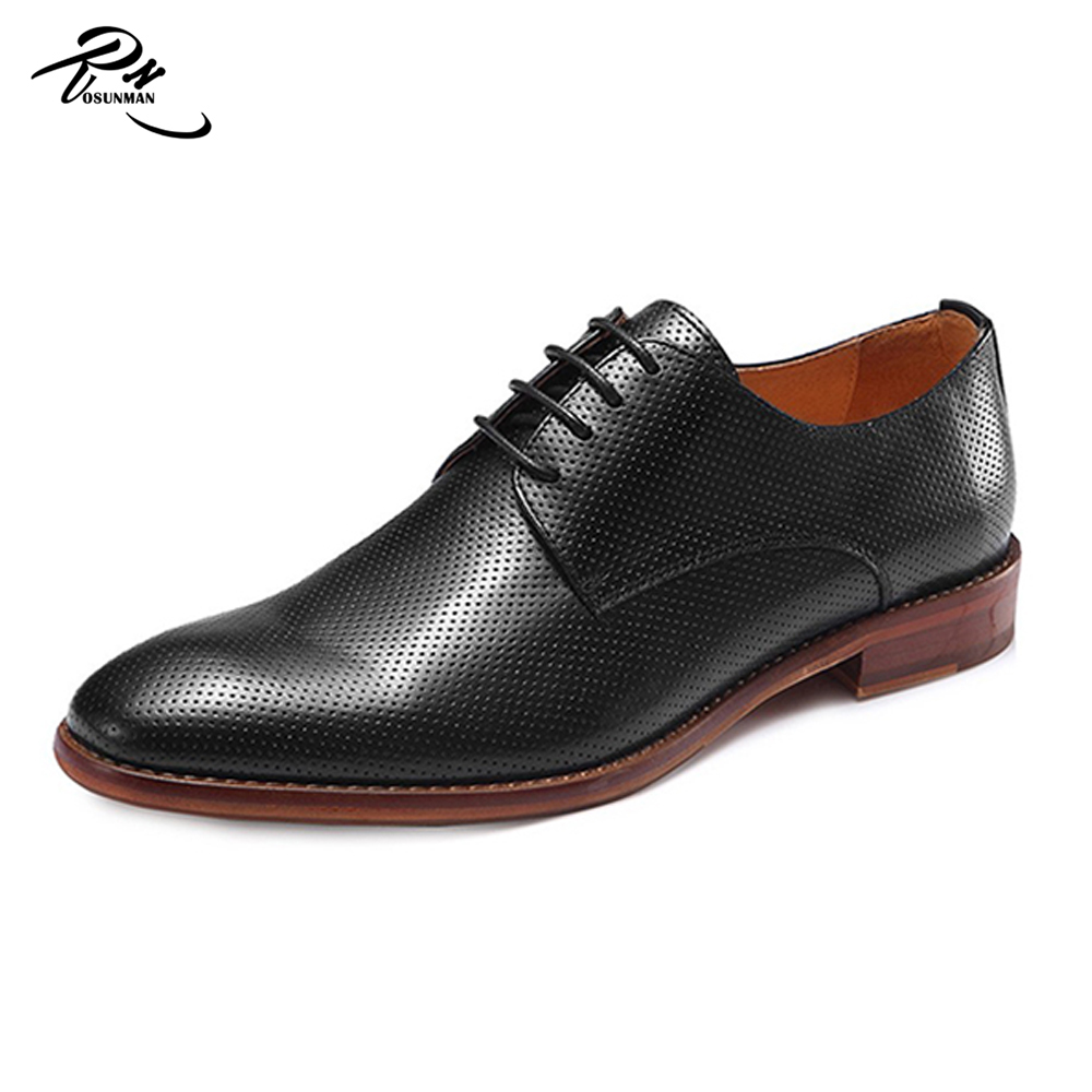 Genuine leather no name brand formal shoes for men